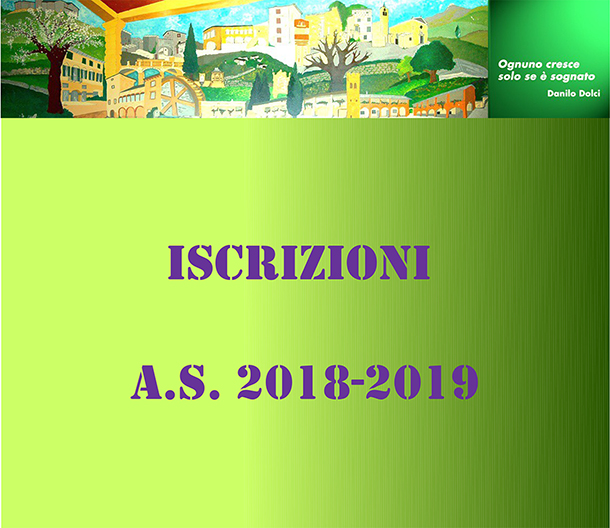 Iscrizioni a.s. 2018/2019