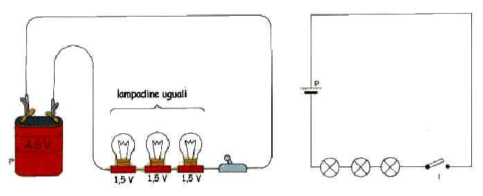 Schema Collegamento Neon In Serie : I circuiti elettrici